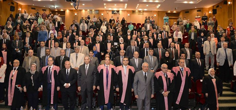 Honoring 65 scientists and researchers during the 10th Science Day celebration at Mansoura University